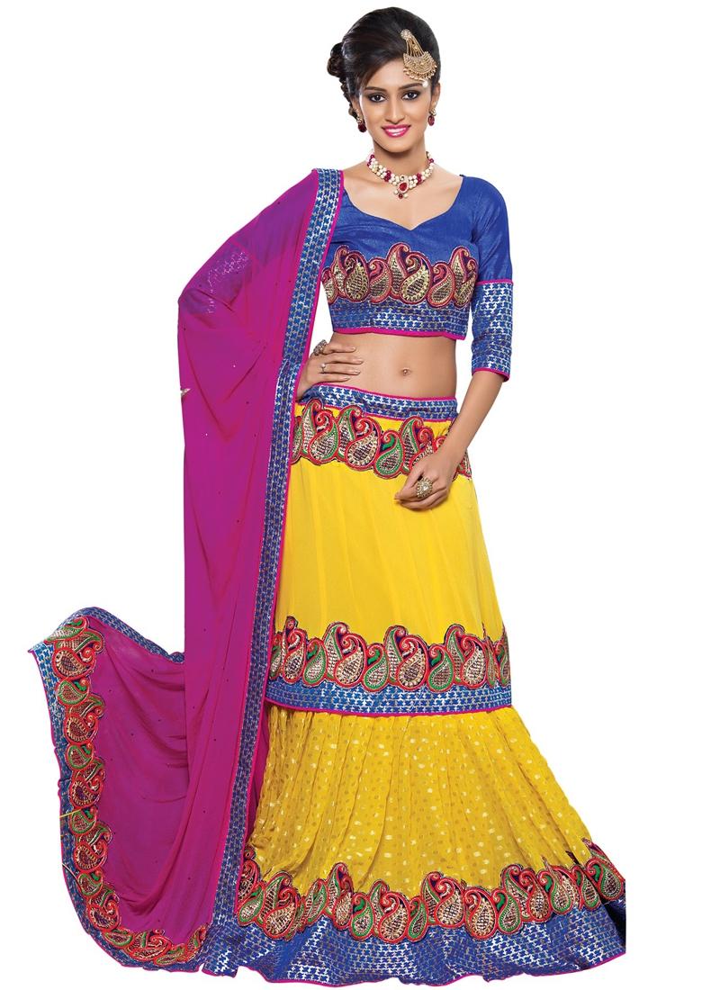 Observable Yellow Color Designer Lehenga Choli