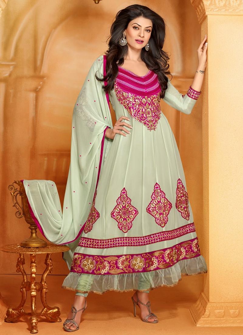 Off White Color Sushmita Sen Bollywood Salwar Suit
