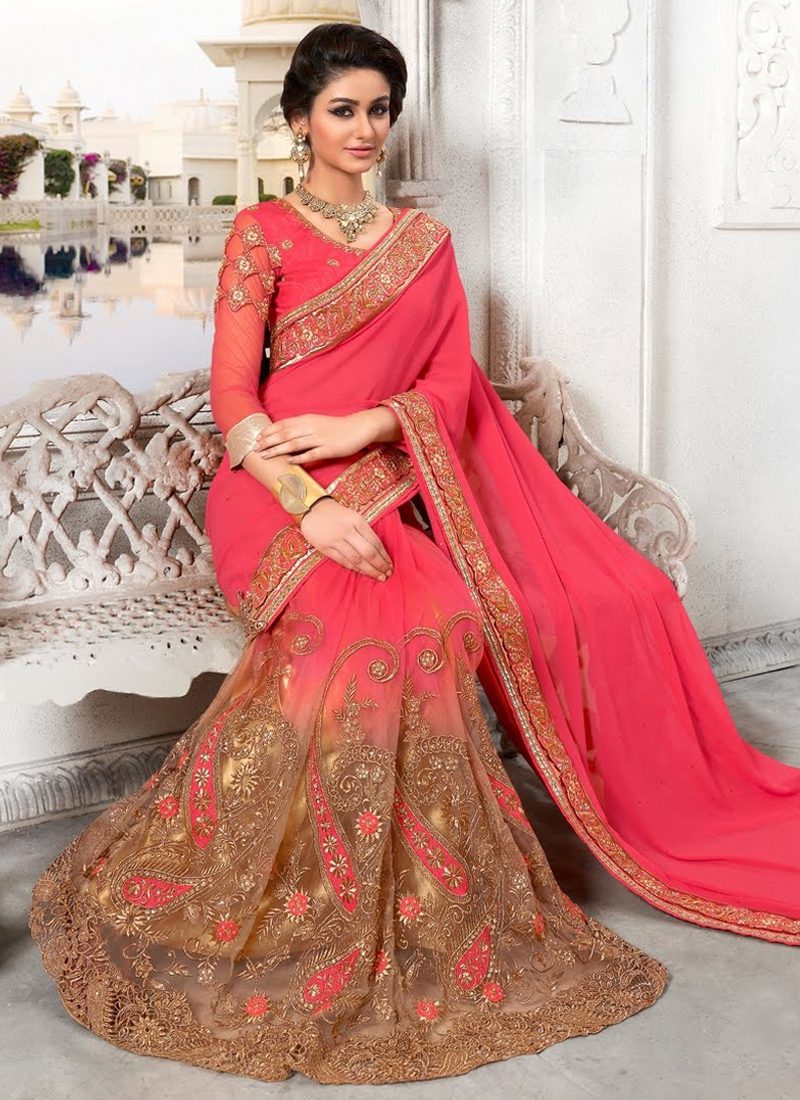 Opulent Art Silk And Net Wedding Saree