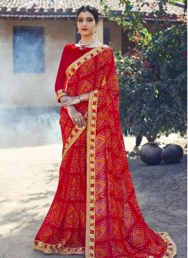 Opulent Bandhej Print Work  Classic Saree