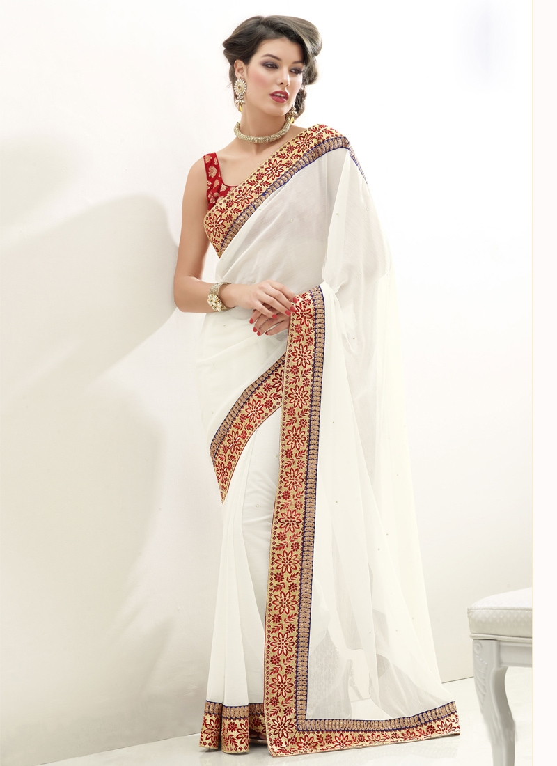 Opulent Beads Enhanced Casual Saree