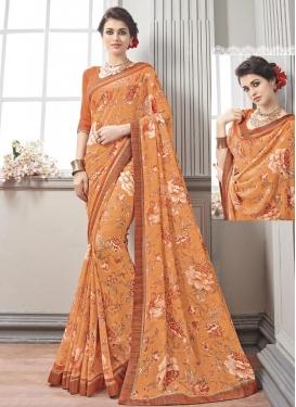 Opulent  Digital Print Work Traditional Saree