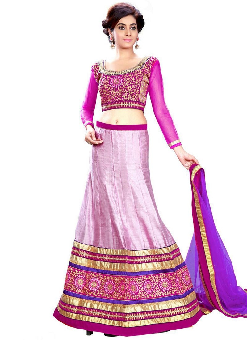 Opulent Patch Border Work Silk Designer Lehenga Choli