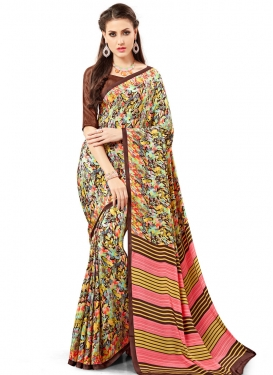 Opulent Print Work  Trendy Classic Saree