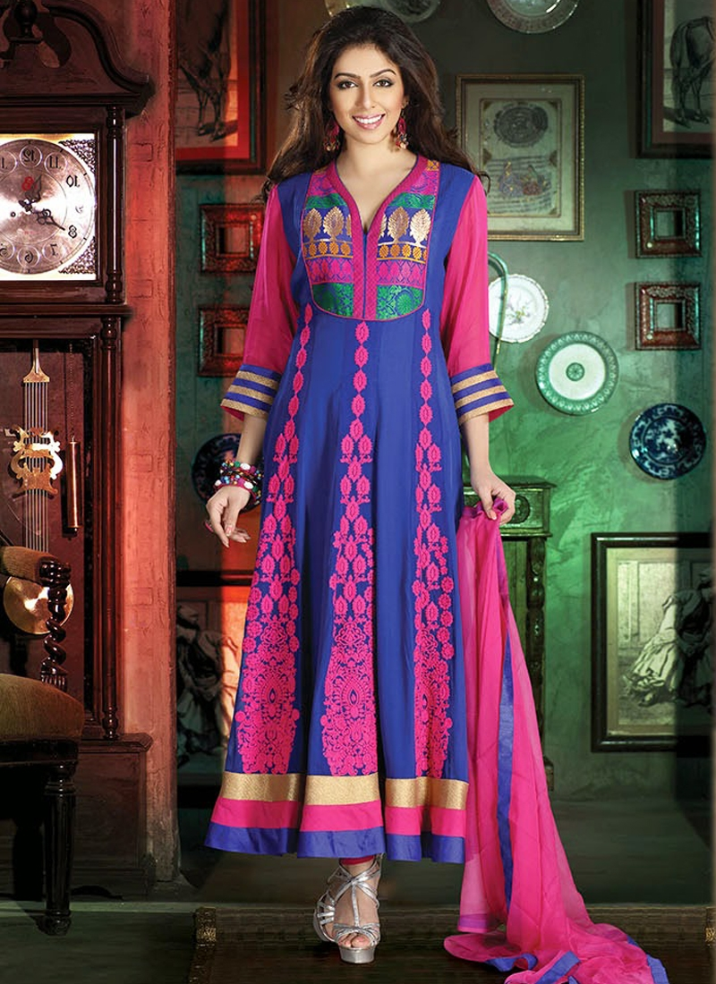 Opulent Resham Work Readymade Anarkali Suit