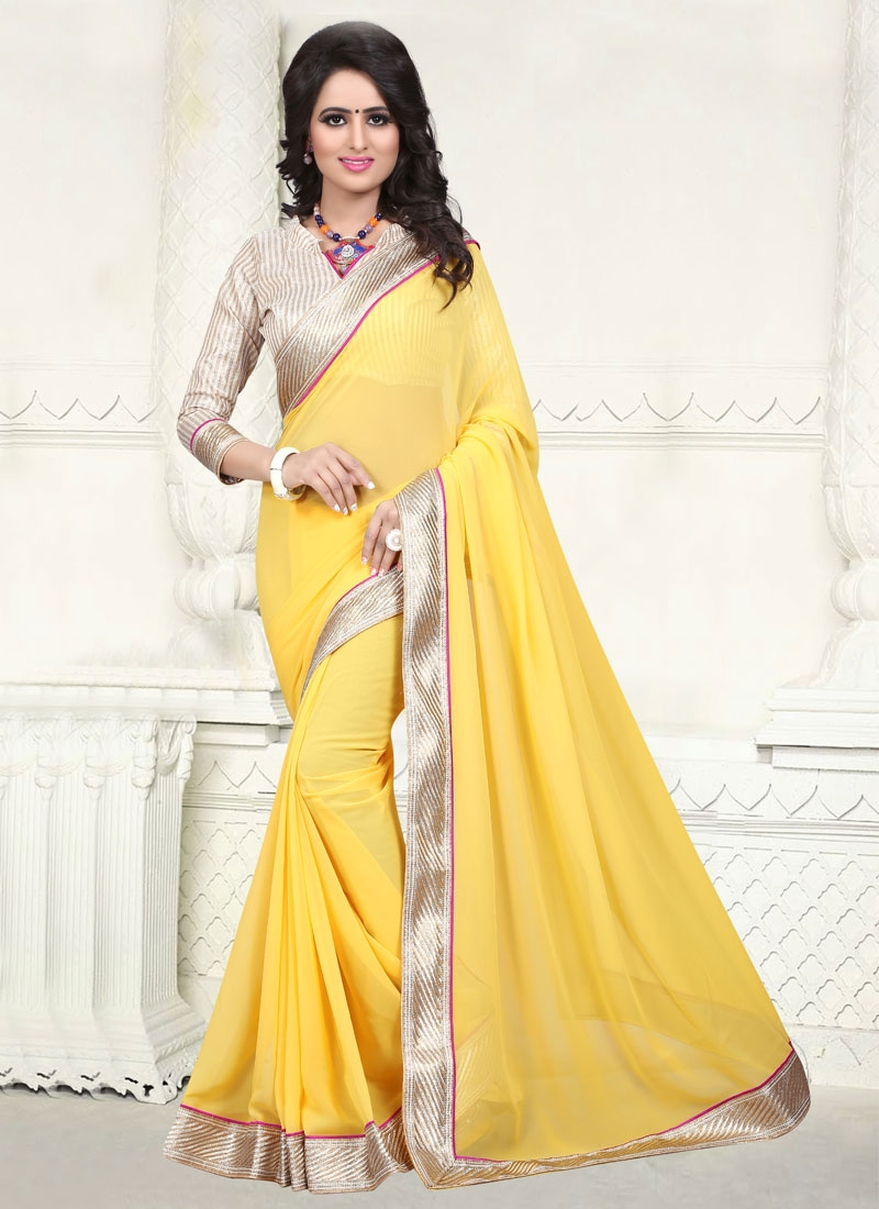 Opulent Yellow Color Casual Saree