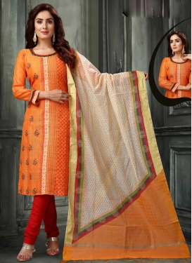 Orange and Red Readymade Salwar Kameez For Festival