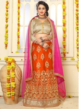 Orange and Rose Pink Lehenga Choli For Ceremonial