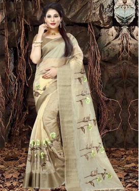 Organza Designer Traditional Saree For Ceremonial