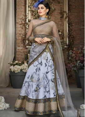 Organza Digital Print Work Trendy A Line Lehenga Choli