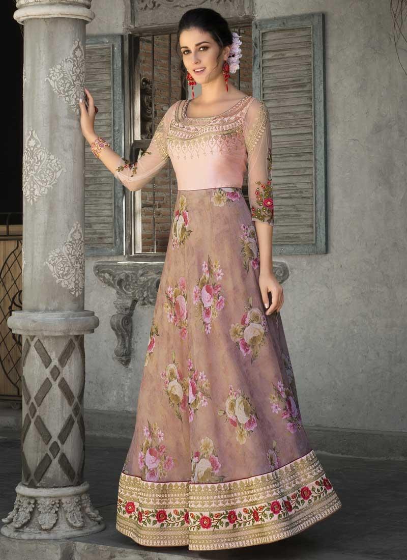 Organza Readymade Long Length Gown