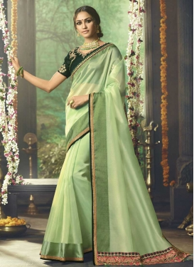 Organza Traditional Saree For Ceremonial