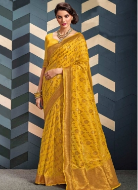 Organza Trendy Classic Saree For Ceremonial
