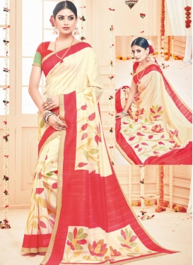 Orphic  Art Silk Contemporary Saree