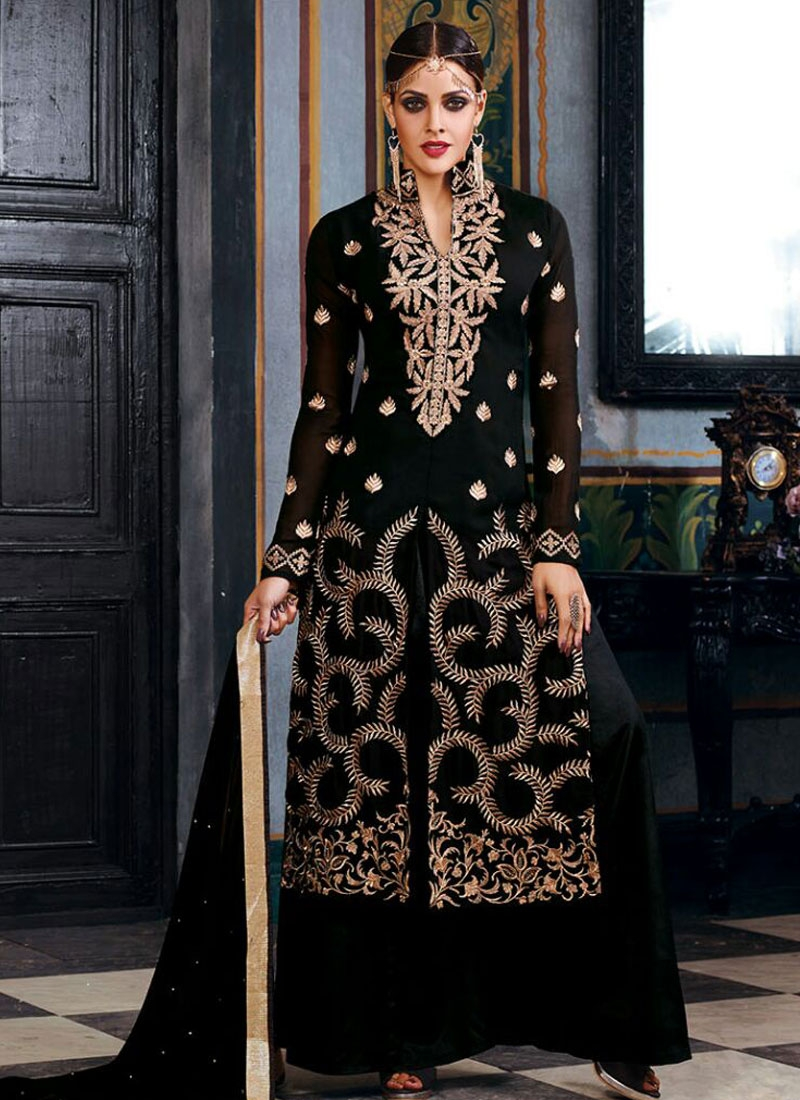 Orphic Embroidery Work Palazzo Style Designer Suit