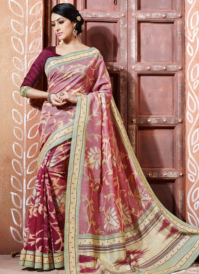 Outstanding Art Silk Printed Casual Saree