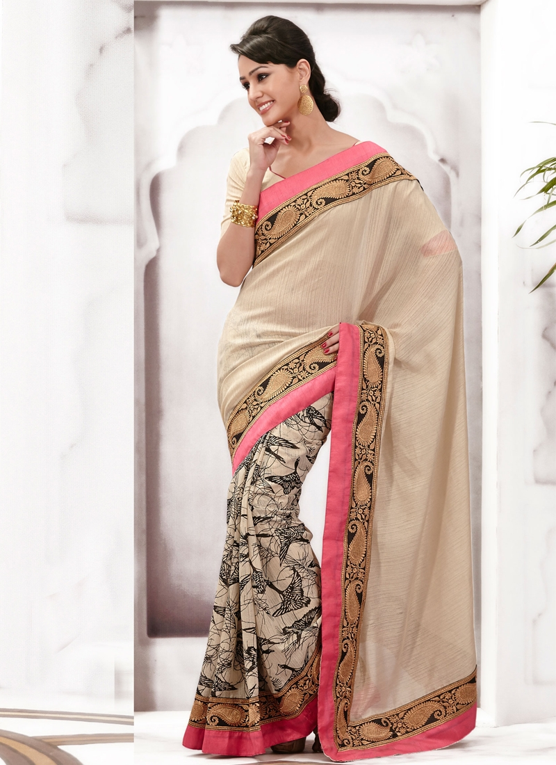 Outstanding Bhagalpuri Silk Party Wear Saree