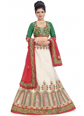 Outstanding Embroidered Work Lehenga Choli For Festival