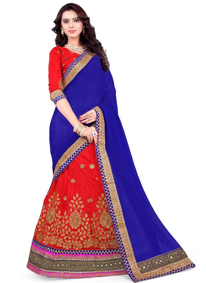 Outstanding Embroidery And Mirror Work Wedding Lehenga Choli
