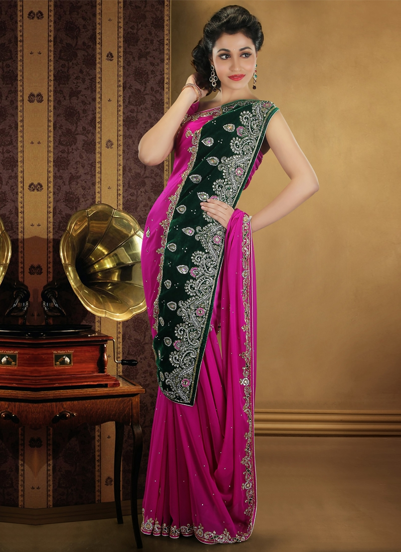 Outstanding Patch Enhanced Party Wear Saree