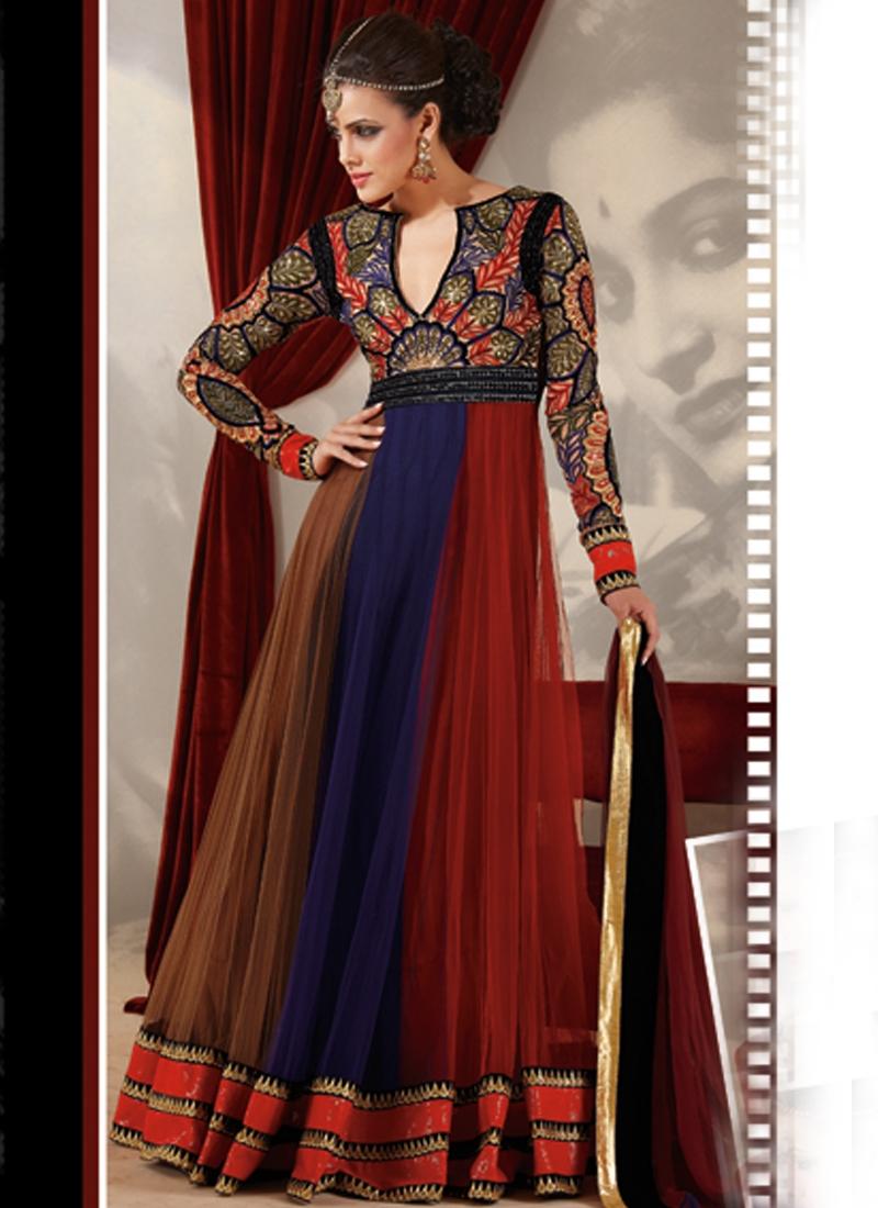 Outstanding Resham Enhanced Designer Suit
