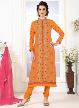 Pakistani Straight Salwar Suit For Ceremonial