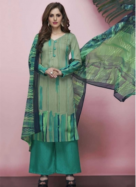 Palazzo Straight Salwar Suit For Casual