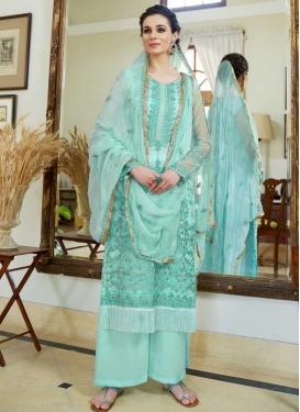 Palazzo Style Pakistani Salwar Kameez For Festival