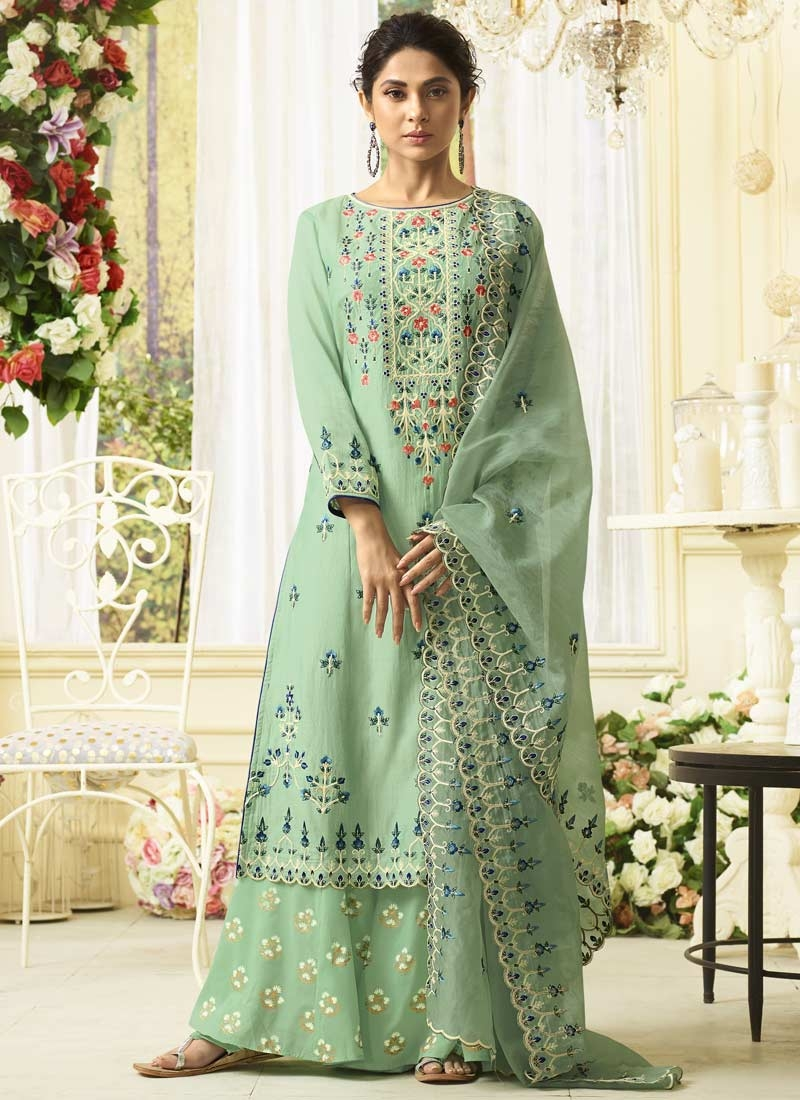 Palazzo Style Pakistani Salwar Suit For Ceremonial