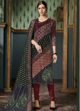 Pant Style Straight Salwar Kameez For Ceremonial