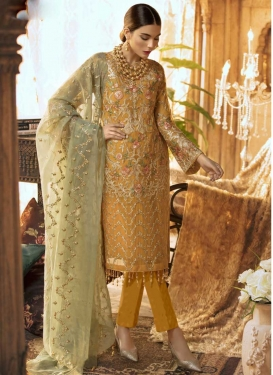 Pant Style Straight Salwar Suit For Ceremonial