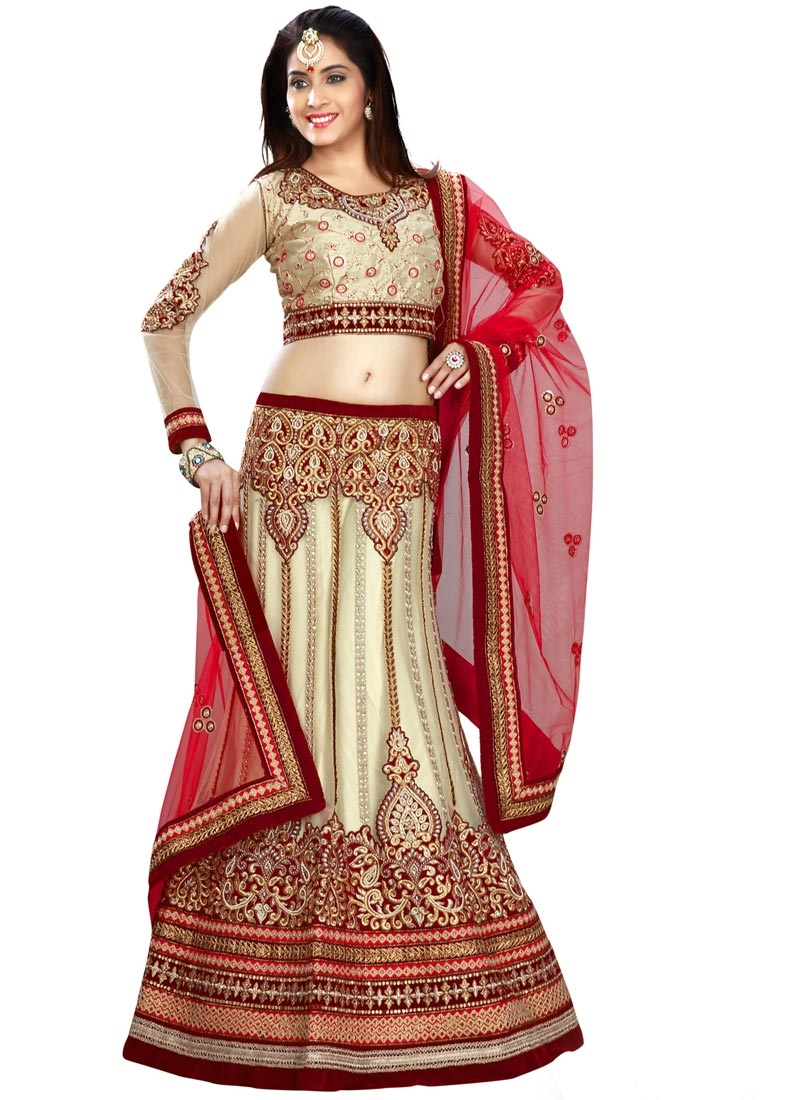 Paramount Beads And Resham Work Bridal Lehenga Choli