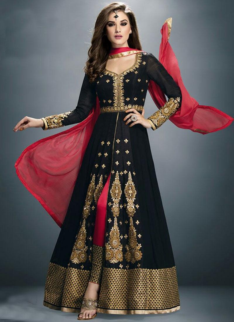 Paramount Black Color Designer Salwar Suit