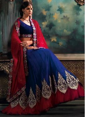 Paramount Booti And Lace Work Wedding Lehenga Choli