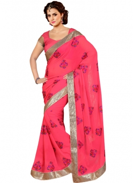 Paramount Booti And Stone Work Party Wear Saree