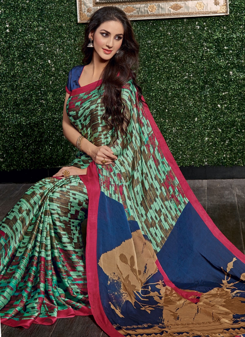Paramount Crepe Silk Casual Saree