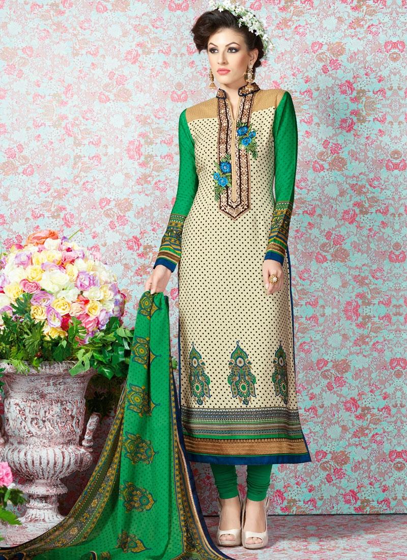 Paramount Floral Work Casual Salwar Kameez