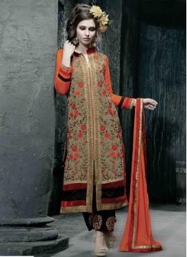 Paramount Floral Work Pakistani Salwar Kameez