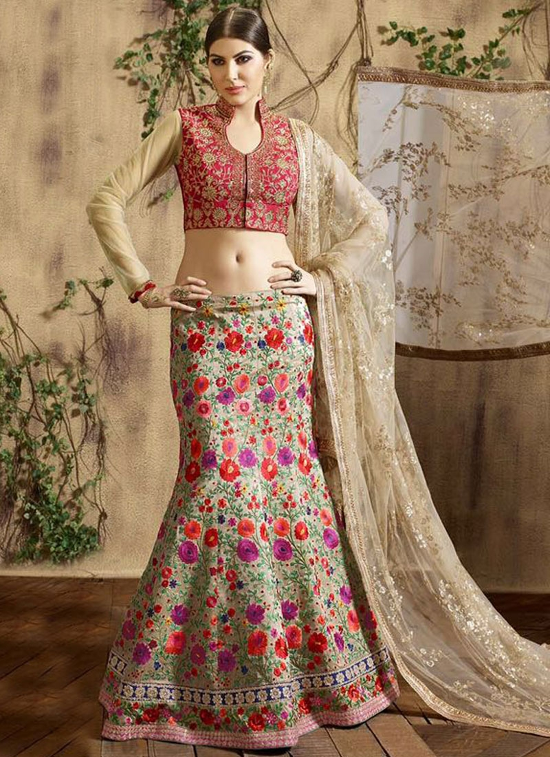 Paramount Floral Work Wedding Lehenga Choli
