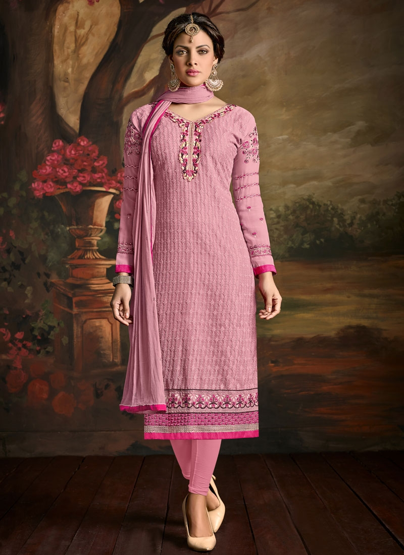 Paramount Lace And Resham Work Party Wear Salwar Suit