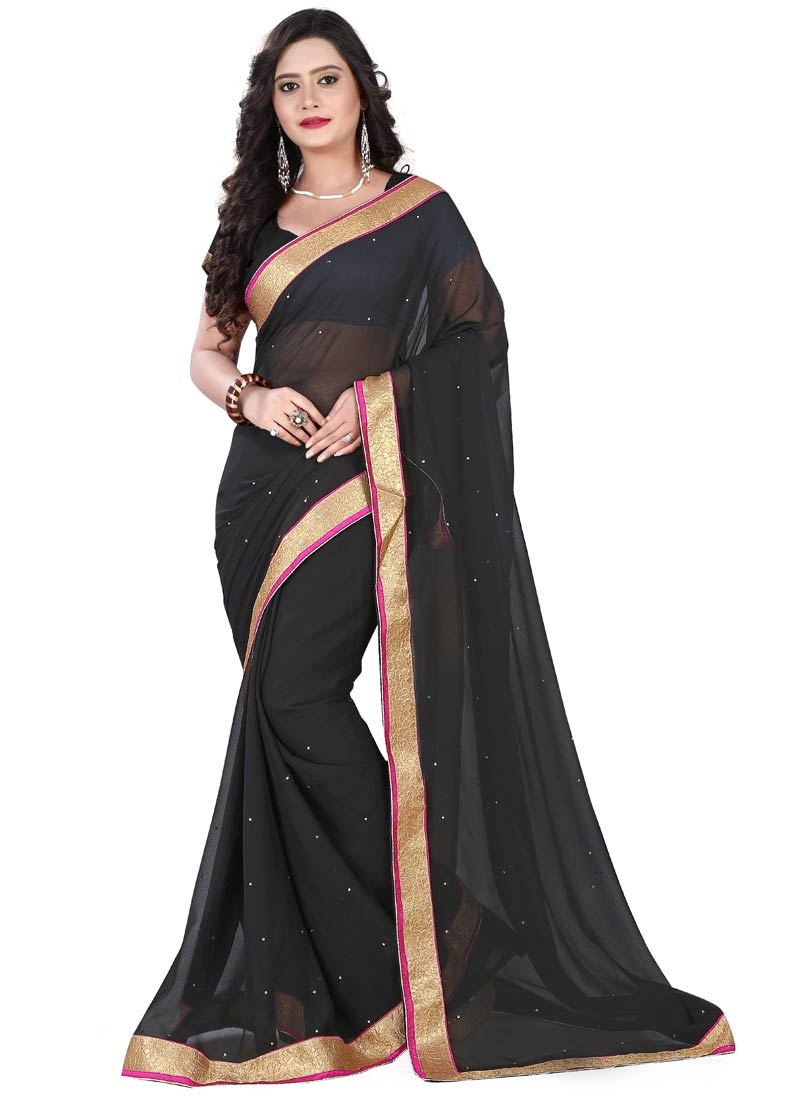 Paramount Lace And Stone Work Casual Saree