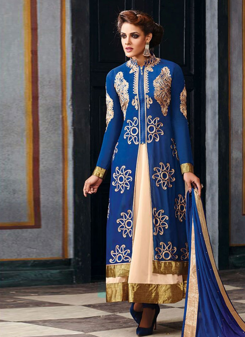 Paramount Navy Blue Color Designer Salwar Suit
