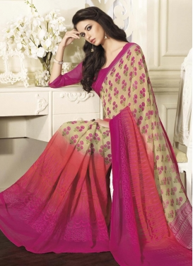 Paramount  Print Work Trendy Saree