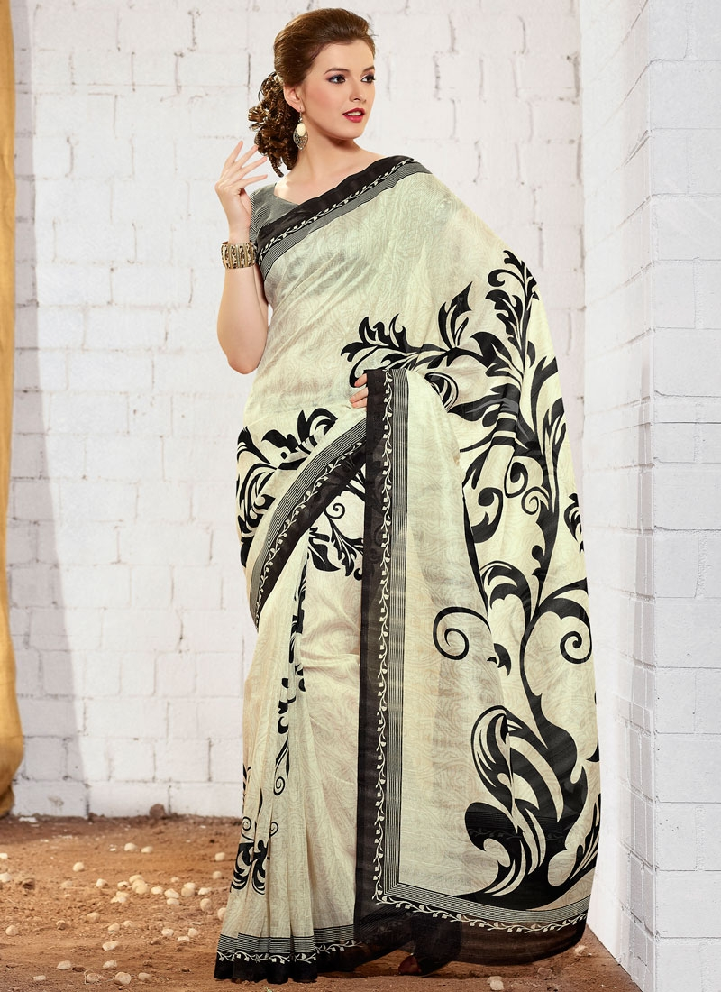 Paramount Printed Art Silk Casual Saree