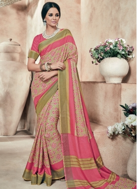 Paramount Printed Art Silk Party Wear Saree