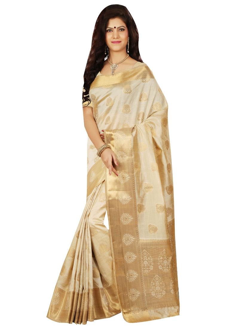 Paramount Resham Work Art Silk Party Wear Saree