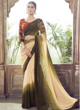 Paramount Stone And Sequins Work Party Wear Saree