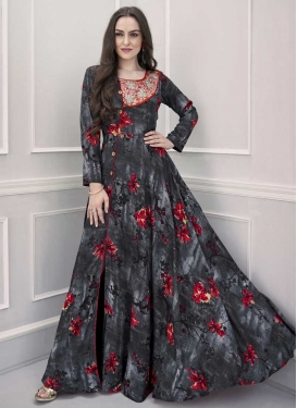Pasmina Cutdana Work Readymade Long Length Gown