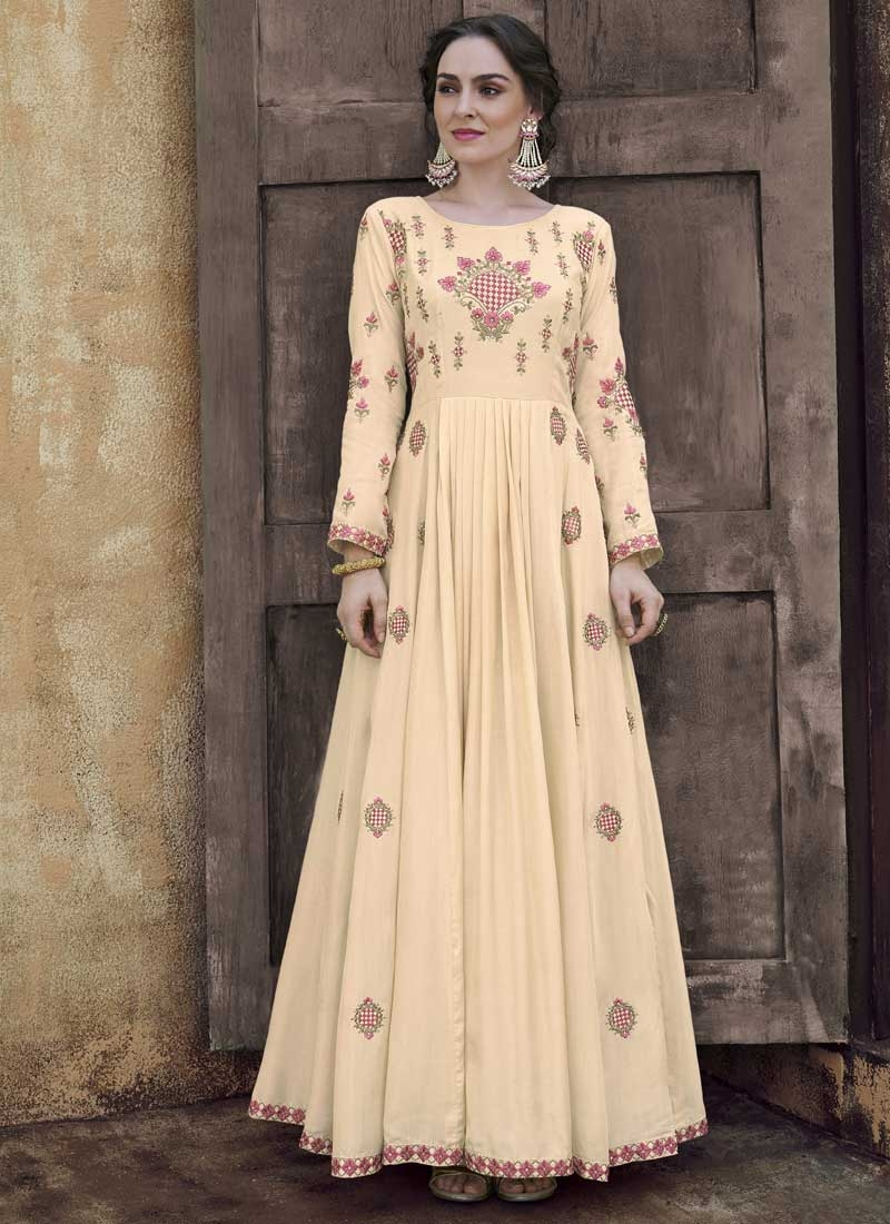 Pasmina Readymade Floor Length Gown For Ceremonial