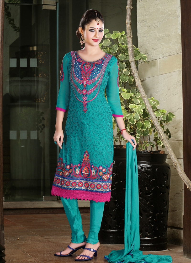 Patch And Jaal Work Party Wear Salwar Kameez